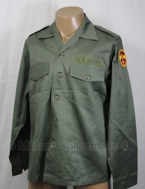 US uniform shirt fatigue OG-107 met, of zonder  insignes - 15,5x31= nl 41 of 16,5x34=nl 43)- origineel US Army