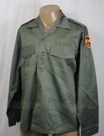US uniform shirt fatigue OG-107 met, of zonder  insignes - 15,5x35 = nl 41 -  origineel US Army