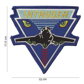 Embleem stof groot Intruder - 11,5 x 10 cm
