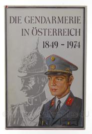 Boek Die gendarmerie in Österreich 1849-1974