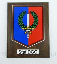 KL wandbord - staf divisie genie commandant - afmeting 21 x 15 x 2 cm - origineel