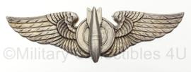"WO2 US USAAF pilotwing ""bombardier"" - sterling zilver - luxenberg new york - origineel"