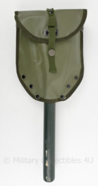 Nieuw gemaakte klapschep met hoes - groen - 62 x 15 x 3 cm - gebruikt - origineel