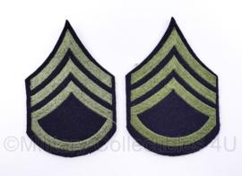 US Army Wo2 Staff Sergeant patch PAAR groen - 12 x 8 cm - origineel