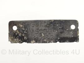 WO2 Duits Krijgsgevangenen dogtags Front Stalag 1XA - ziegenhain - origineel