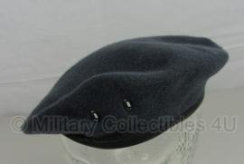 Britse baret donkergrijs - maat 56 - origineel
