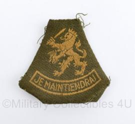 Nederlands leger DT arm leeuw  je maintiendrai - 7 x 7 cm origineel