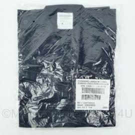 Defensie donkerblauw overhemd met LANGE  mouw zonder logo - NIEUW in verpakking - maat 8000/0005 of 8000/0510 - origineel