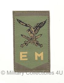 KL Nederlandse leger EM Luchtmobiele brigade embleem met klittenband - origineel