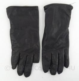 KL Koninklijke Landmacht Lederen handschoenen met trekkervinger - zwart leder - maat 9 1/2 - origineel