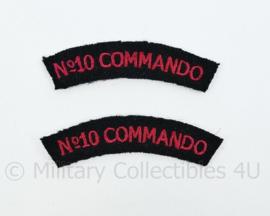 Straatnamen paar No.10 Commando - let op te kleine versie