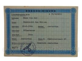 Stalag tewerkstelling - Nederlandse krijgsgevangene - Gijsbrecht Jan Willem van der Haas Amsterdam