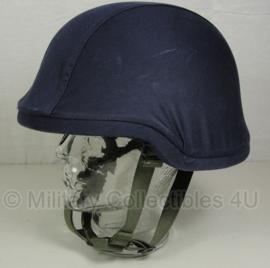 KMAR Marechaussee donkerblauwe helm overtrek van composiet helm - maat L - origineel