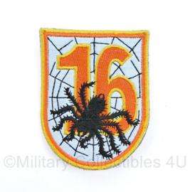Luchtmacht onbekend embleem 16 met spider- 6,5 x 8 cm - origineel