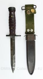 Nederlandse leger jaren '50 M4 bajonet met M8A1 schede voor de M1 carbine - 31 cm - origineel