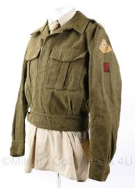 Zeldzaam MVO 1e model net naoorlogse uniform jas Geneeskundige Troepen - maat 50 - origineel