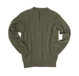 Swiss army  sweater ronde hals met rits - GROEN - maat Small t/m 3XL - nieuw gemaakt