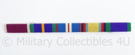Britse leger medaillebalk - 5 medailles - afmeting 1 x 16 cm - origineel