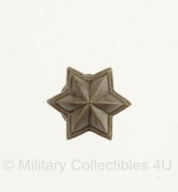 Nederlandse leger rang ster kunststof - 1,5 x 1,5 cm - prijs per stuk