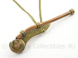 KM Marine Bootsman fluitje - zeldzaam - koper met messing - afmeting 3 x 13 cm - origineel