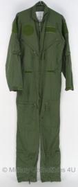 KLU Luchtmacht piloten overall Overall Vlieger groen - gebruikt - maat 50 / 184 - origineel