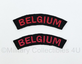 WO2 Britse leger Belgiumshoulder title pair - 9 cm breed