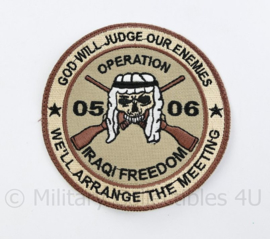 US Operation Iraqi Freedom patch 2005 2006 - God will judge our enemies - origineel