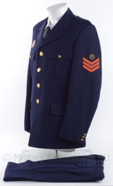 "Nederlandse Brandweer uniform jas en broek - rang ""hoofdbrandwacht"" - met brevet Muntendam brandweer - maat 54 - origineel"