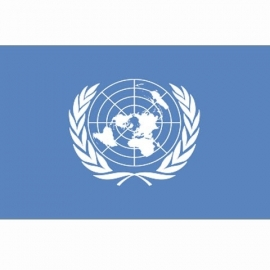 Vlag VN UN / United Nations - Polyester -  1 x 1,5 meter