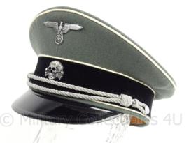WO2 Duitse Waffen SS Officiers schirmmutze Infanterie met witte bies - maat 59 - replica
