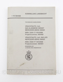 KL Technisch handboek TH 904400 Vrachtauto 4x4 Algemene dienst Mercedes Benz 290GD - origineel