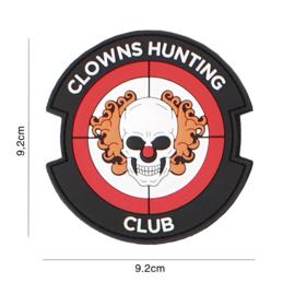 Clowns Hunting Club embleem PVC - rood - 9,2 x 9,2 cm
