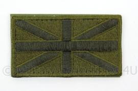 Britse leger embleem - groen - met klittenband - nieuw model - afmeting 9 x 5 cm - origineel