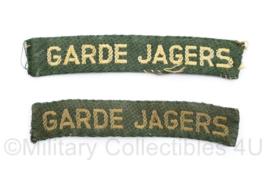 MVO Straatnaam PAAR Garde Jagers model 30 jan 1951 tot dec 1962 - 10,5 x 2 cm - origineel