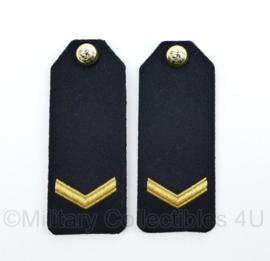 Korps Mariniers epauletten schouderstukken set - Marinier 1e klasse - origineel