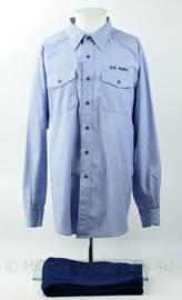USN US Navy overhemd/ shirt met broek - originele set - maat XXL - origineel