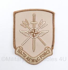 Luchtmacht Nato AEW & C Force embleem Airborne Early Warning & Control Force - met klittenband -  11 x 8 cm - origineel