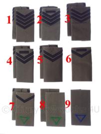 KLU Koninklijke Luchtmacht GVT schouderstukken manschappen - verschillende rangen - origineel