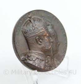 National Maritime Museum Medal commemorating the Coronation of Edward VII, 1902 - origineel