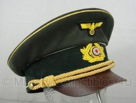 AH Fuhrer Schirmmütze - feldgrau - maat 57, 58 of 60 cm