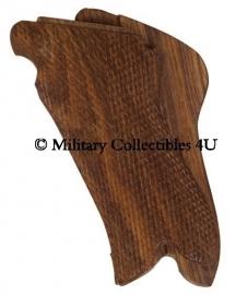 P08 Luger handgrepen - hout