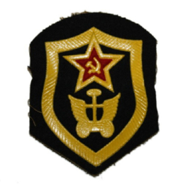 Russisch USSR embleem transporttroepen - 8 x 6,5 cm. - origineel