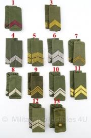 KL set epauletten schouderstukken Rangen gevechtstenue GVT - 1963-1984 - origineel