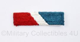 US Army naoorlogs stoffen embleem voor op de baret - beret candy stripe - 5 x 1,5 cm - origineel