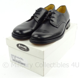 KL Koninklijke Landmacht DT schoenen zwart met lederen zool - NIEUW IN DOOS - merk Avang - maat 285b= 44,5 breed, 290S=45 smal of 290B= 45 breed  - origineel