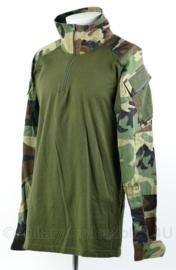Korps Mariniers UBAC shirt in Woodland forest camo - merk Invader Gear combat shirt woodland - Large - origineel