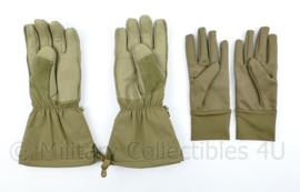 Defensie vinger handschoen vochtregulerend coyote met binnenhandschoen - maat XL - NIEUW in de verpakking - origineel
