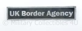 UK Border Agency rug strook reflectie - 25 x 5 cm - met klittenband - origineel