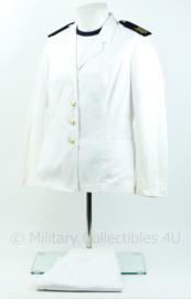 Korps Mariniers Witte uniform set met sportwitje  - rang Sergeant- Majoor der Mariniers- maat 38 - origineel