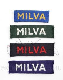 MVO straatnaam SET MILVA voor vrouwen - 18 mei 1953 tot 12 december 1962 - origineel